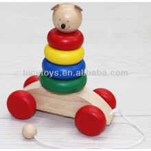 Boneco de madeira arco-íris empilhador brinquedos educativos distribuidor