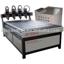 wood door cnc router / four heads / engraving machine JK-1224