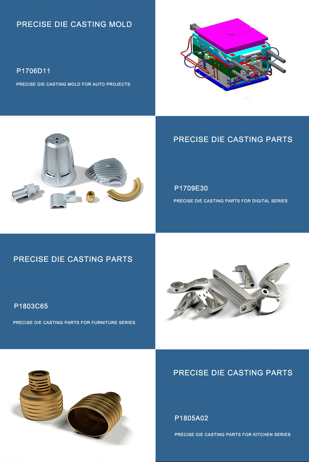 High precision metal mold
