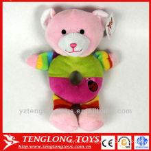 Оптовая милый медведь игрушки с маленьким колокольчиком для ребенка