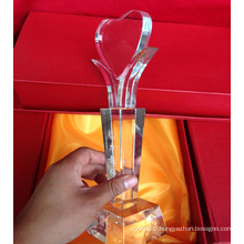 Promotion High Quality Clear Creative Crystal Trophy Awards for Achievement Award
