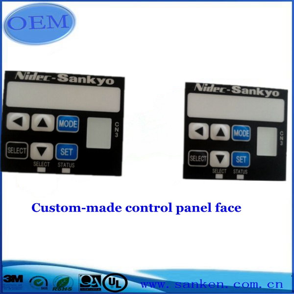Custom-made control panel face