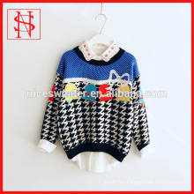 Ladies long sleeves jacquard pullover Christmas sweater