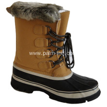 Rubber-Outsole/Fur Lining Snow Boots
