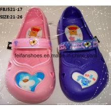 Dernières Cartoon EVA jardin chaussures pantoufles de mode pour les enfants (fbj521-17)