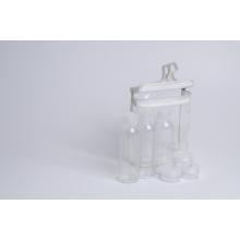 60ml pet garrafa W / flip top cap e Jars Travel Kit (EF-TK01)