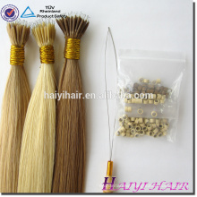 23- Year Big Factory Shedding Free NO Dry NO Tangle Nano Ring Hair Extensions No Split Ends
