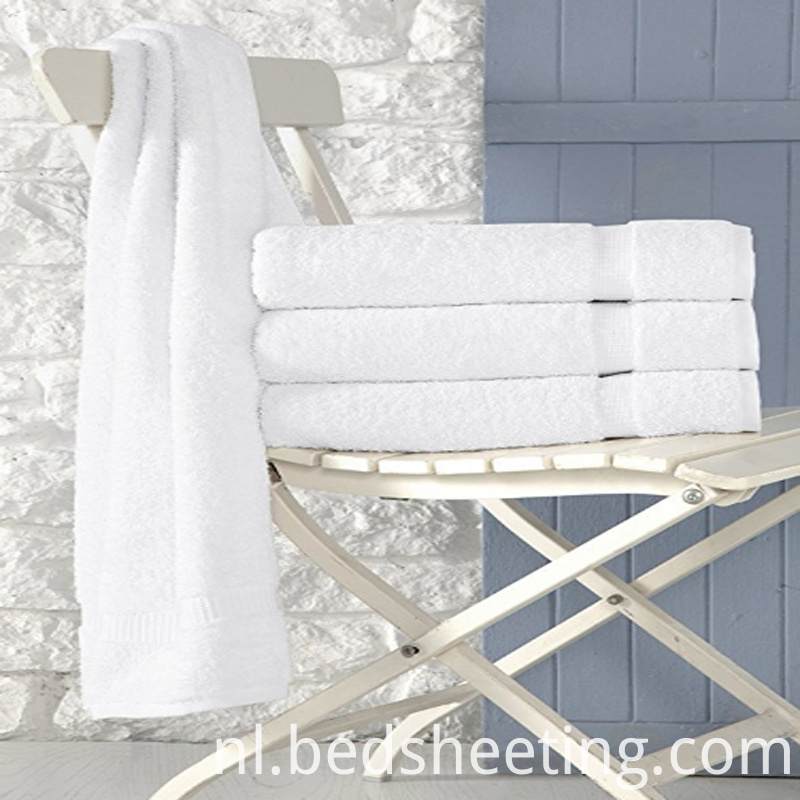Hotel White Cotton Bath Towels