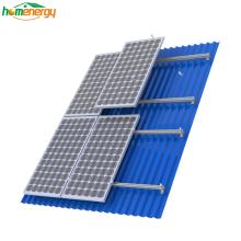 Système d'alimentation solaire sur toit en tôle Système de montage sur panneau solaire sur le toit Systèmes de montage solaires