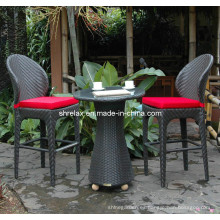 Sistema de patio jardín Rattan muebles mimbre Bar silla taburete