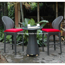 Patio Garden Rattan Furniture Wicker Bar Chair Stool Set