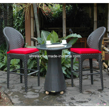 Terrasse Garten Rattan Möbel Wicker Bar Stuhl Hocker Set