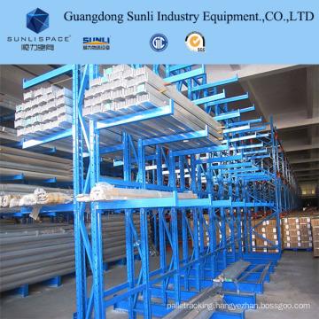 Long Conduits Warehouse Steel Storage Rack Shelving