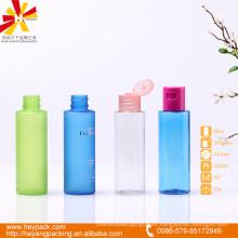 60ml botella plástica translúcida colorida del animal doméstico con la tapa de tirón