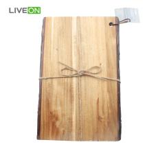 Tábua de madeira maciça com casca de natureza