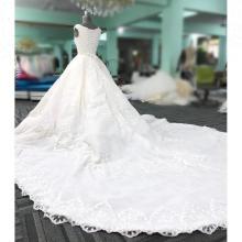 Новый дизайн Белый вышитый бисером свадебные платья vestidos 2018 сайт novias бальное платье свадебное платье
