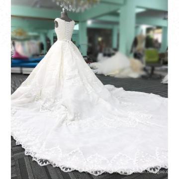 Nuevos vestidos de boda moldeados blancos del diseño vestidos novias 2018 vestido nupcial del vestido de bola