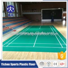 PVC sports badminton court flooring removeable type badminton court price