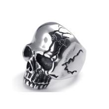 Anillos de acero cráneo inoxidable para hombres