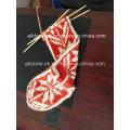 Custom New Design Hand Knit Senhoras Angora joelho High Socks