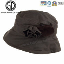 Beautiful Fashion New Waterproof Autumn Bucket Hat with 3D Flower
