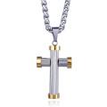 Мода Цепь Шарика Нержавеющей Стали Перекрестной Ожерелье Бейсбол Ожерелье Для Мужчины Женщины
