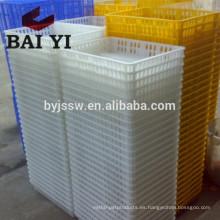 Cajón de transporte de aves de corral plástico para granja de pollos