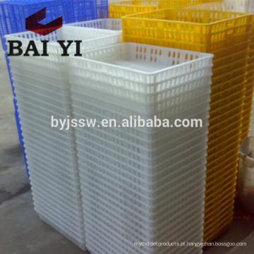 Caixa de transporte de aves de capoeira de plástico para fazenda de frango
