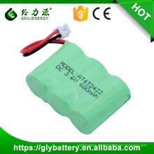 Paquete de baterías de 3.6 voltios Ni-MH 600mAh 2 / 3AA para teléfono inalámbrico