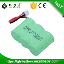 Paquet de batterie de 3.6 volts Ni-MH 600mAh 2 / 3AA pour le téléphone sans fil