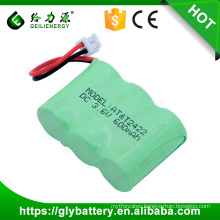 3.6 Volt Ni-MH 600mAh 2/3AA Battery Pack For Cordless Phone