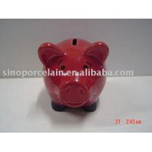 Caja de dinero de cerámica