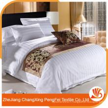 Vente chaude Feuille de lit en polyester blanc pour hotle ou hôpital