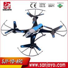 SJY-YD-A9C RC Quadcopter Helicóptero 4CH 360 Degree Eversion 2.0MP cámara One Key Roll RC Drone