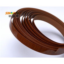 Bandas de borde de PVC de grano de madera para tablero de muebles