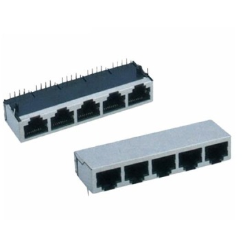 RJ45-Buchse Side Entry Shielded 1x5P Front 4.57