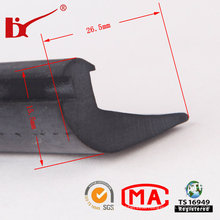 Black High Density Rubber Extrusion Door Seal Strip