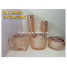 Récipient cosmétique, jar, crème acrylique / flacon en crème acrylique