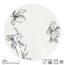 Porcelaine blanche avec assiette décorative