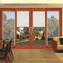 Portes coulissantes en verre trempé en aluminium à la maison (FT-D120)