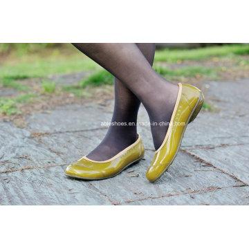 Botas de salto liso PVC trabalho para mulheres, sapatas das mulheres