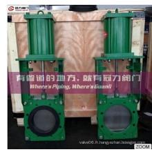 Fonctionnement manuel des vannes à guillotine bi-directionnelles