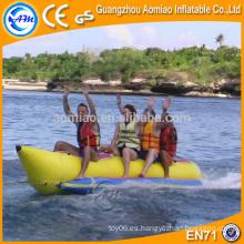 Solo barco inflable del plátano pescados de la mosca del barco, barco inflable de China de la alta calidad