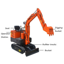 Mini excavadora del jardín de 0.8Ton Micro Digger Machine