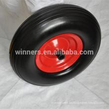Heavy duty 16 pulgadas wheel 4.00-8, foam flat free 4.00-8 neumático