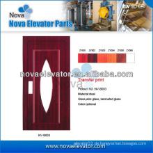 Hairline Edelstahl Aufzug Automatische Tür / Aufzug Manuelle Tür
