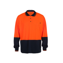 Long Sleeve Reflective Safety Polo Shirt