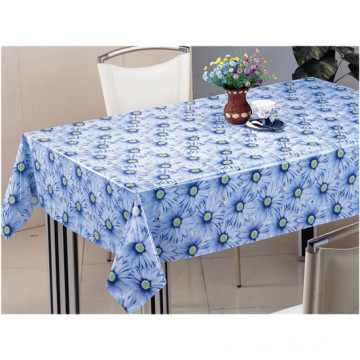 PVC Material Printed Design Transparent Tablecloth (TJ0054) Factory Wholesale