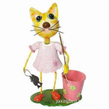 Metal Cat Craft, Used for Home and Garden Decorations, OEM/ODM Orders are Accepted