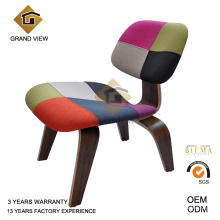 Klassisches Möbel geformt Furnierholz dunkel Nussbaum Stuhl (GV-LCW 007)